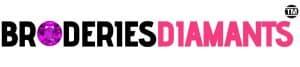 Broderies Diamants Logo pied de page