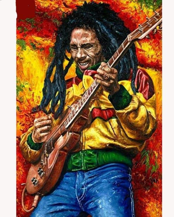 Broderie Diamant Bob Marley