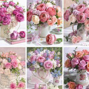 Broderie Diamant Bouquet De Rosée