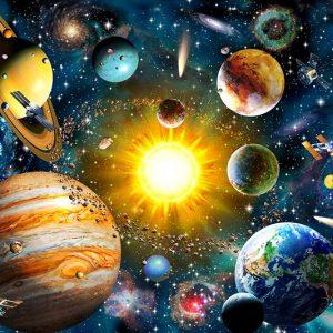Broderie diamant univers de la galaxie