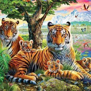 Broderie Diamant Tigre