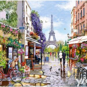 Broderie Diamant J'aime Paris
