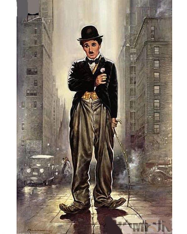 Broderie Diamant Charlie Chaplin